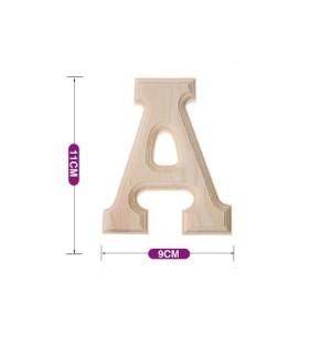 Lesena črka  A  11*9 cm