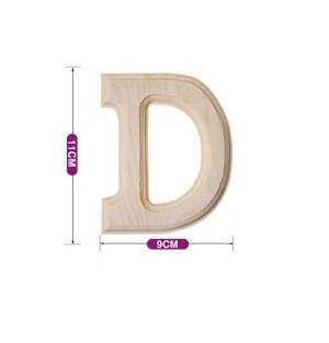 Lesena črka D 11*9 cm