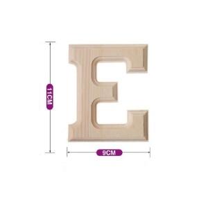 Lesena črka E 11*9 cm