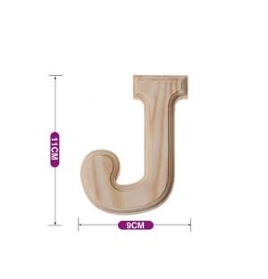 Lesena črka J 11*9 cm