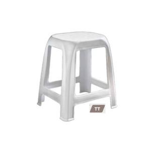 Plastični stol-sivo-rjava