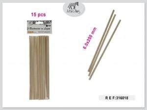 Dekorativne lesene palice 6x200mm