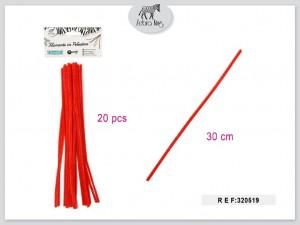 Dekorativne žice (rdeča) 30cm