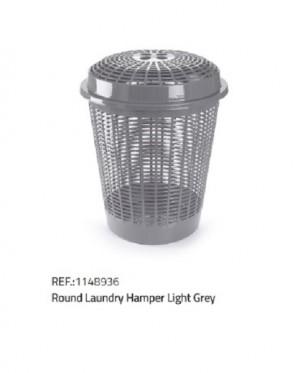 Košara za perilo svetla siva
