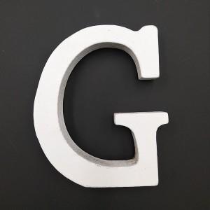 Lesena črka G 11 cm