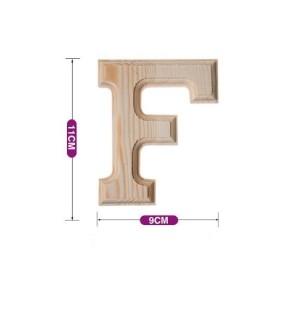 Lesena črka F 11*9 cm