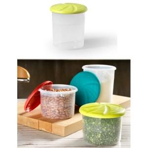 Plastična posoda za shranjevanje-0,7l modra-zelena