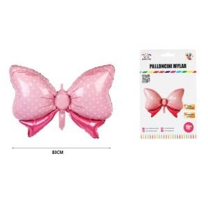 Balon folija mašnica roza 80cm
