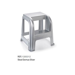 Plastična lestev/stol-srebrna