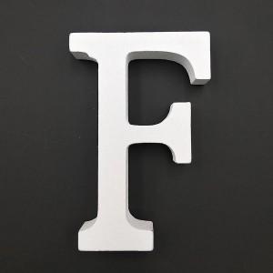 Lesena črka F 11 cm
