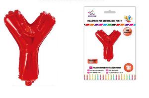 Balon črka Y-40 cm-Rdeča