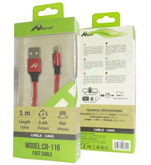 USB kabel CB-116 Iphone rdeča