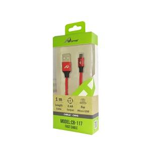 USB kabel CB-117 Micro usb rdeč