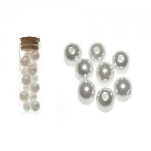 Dekorativne perle bela 3-18