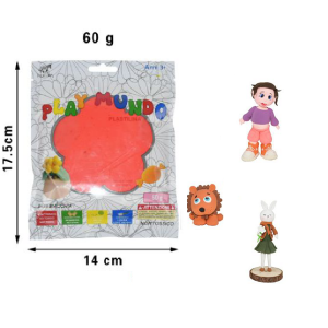Plastelin oranžno-rdeč 60g