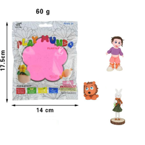 Plastelin roza 60g