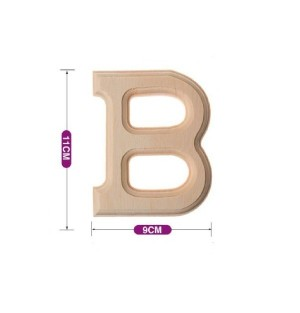Lesena črka B 11*9 cm