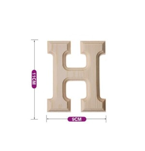 Lesena črka H 11*9 cm