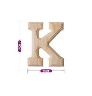 Lesena črka K 11*9 cm
