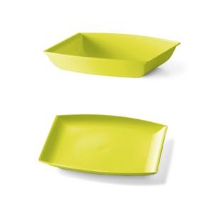 Plastični krožnik 6/1-rumeno-zelena