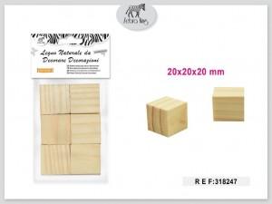 Dekorativni leseni kvadratki 20×20×20mm