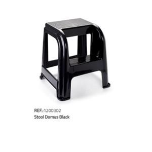 Plastična lestev/stol-črna