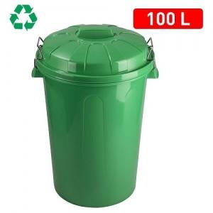 Koš za smeti 100l zelen REF:1125215