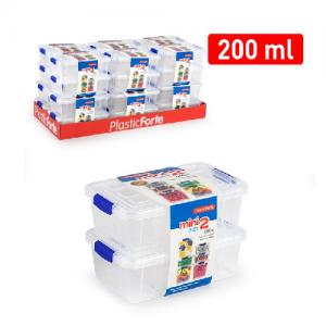 Plastična škatla 2/1 200ml REF:12395