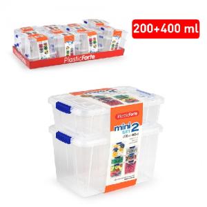 Plastična škatla 2/1 200ml/400ml REF:12396