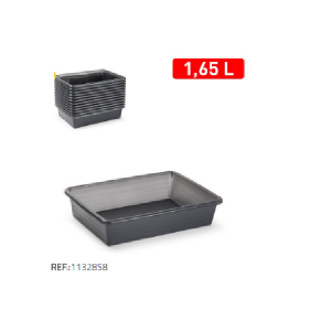 Plastični pladenj 1,65l črna REF:11328S8