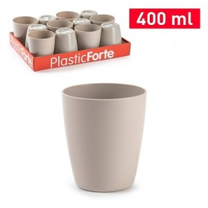 Plastičen kozarec 400ml REF:12838T0