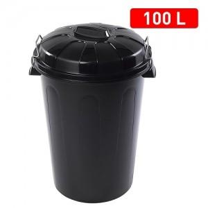 Koš za smeti 100l črni REF:1125202