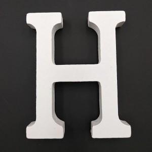 Lesena črka H 11 cm