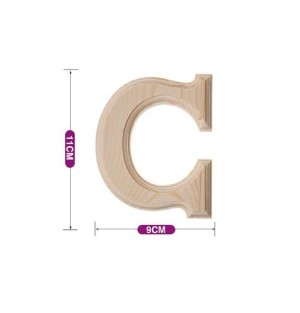 Lesena črka C 11*9 cm
