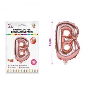Balon črka B rose gold