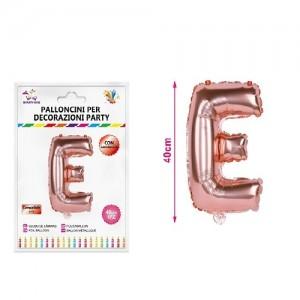 Balon črka E rose gold