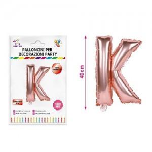 Balon črka K rose gold