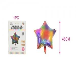 Aluminijasti balon 45cm zvezdica