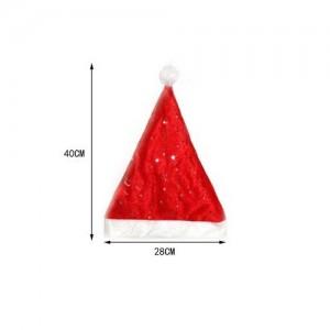 Božičkova kapa z zvezdicami 100%poliester
