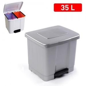 Koš za smeti 2/1 35l siva  REF:1126512