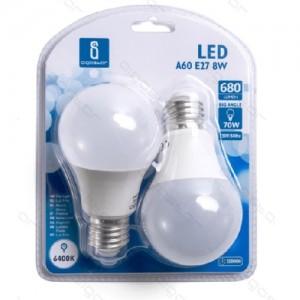 Led žarnice (bela) E27 8W