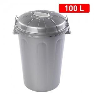 Koš za smeti 100l srebrni REF:1125212