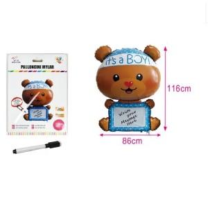 Balon folija medvedek It's a boy 116*86cm