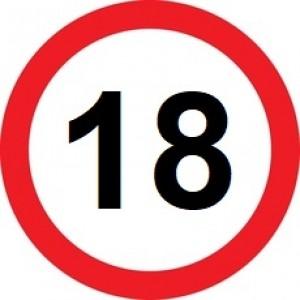 Rojstnodnevna tabla prometni znak 18 let