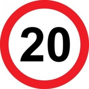 Rojstnodnevna tabla prometni znak 20 let