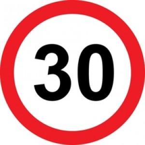 Rojstnodnevna tabla prometni znak 30 let