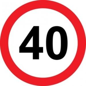 Rojstnodnevna tabla prometni znak 40 let