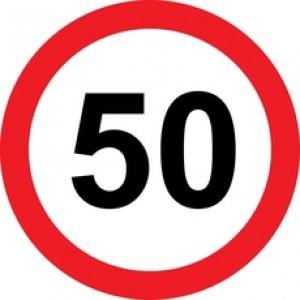 Rojstnodnevna tabla prometni znak 50 let