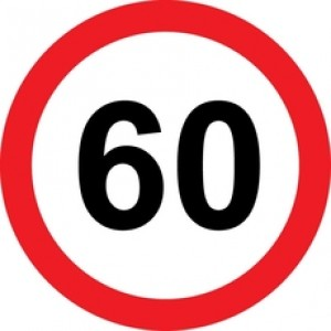 Rojstnodnevna tabla prometni znak 60 let