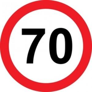 Rojstnodnevna tabla prometni znak 70 let